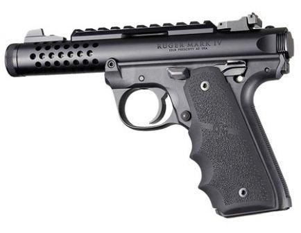 Hogue Grip w/ Finger Grooves for Ruger 22/45 MKIV Pistols, Black - 79080