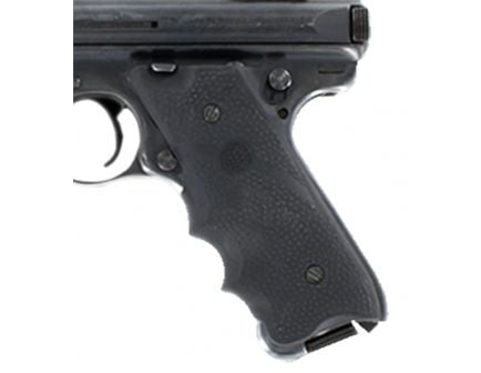 Hogue Pistol Grip w/ Left Hand Thumb Rest and Finger Grooves for Ruger MKII/MK III, Black - 82070