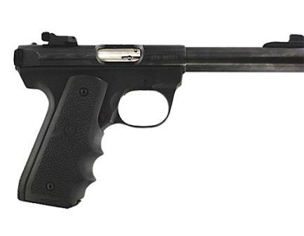 Hogue Grip w/ Finger Grooves for Ruger MK III 22/45 Pistols, Black - 82080