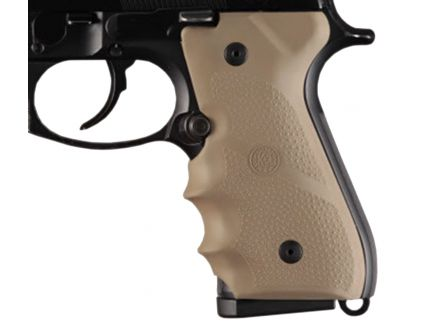 Hogue Grip w/ Finger Grooves for Beretta 92/96 Series Pistols, Flat Dark Earth - 92003
