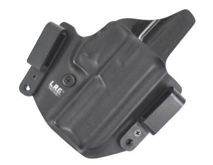 """Lag Tactical The Defender Right Hand 1911 4"""" Inside and Outside the Waistband Combo Holster, Black - 6001"""
