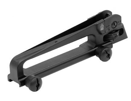 Leapers UTG Aluminum 1-Piece Carry Handle Sight for Mil-Spec AR-15 Rifle, Hardcoat Anodized Matte Black - TLURS001