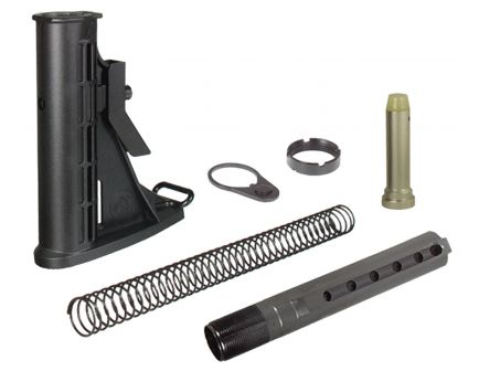 Leapers UTG Pro Polymer 6-Position Stock Assembly, Black Hardcoat Anodized - RBU6BM