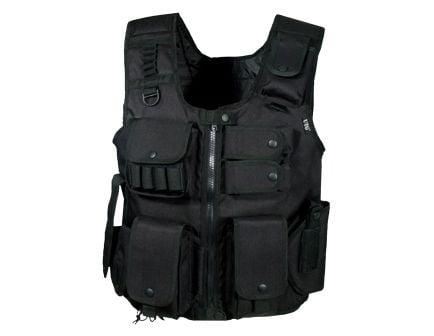 Leapers UTG Swat Polyester Law Enforcement Tactical Vest, Black - PVCV548BL