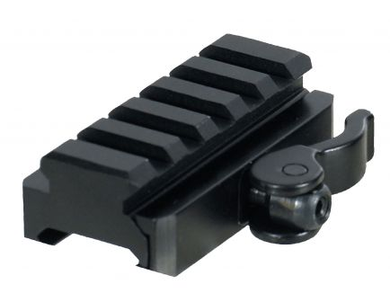 Leapers UTG Pro AR Aluminum 1-Piece Lever Mount Adaptor and Riser, Anodized Matte Black - MNTRSQD605