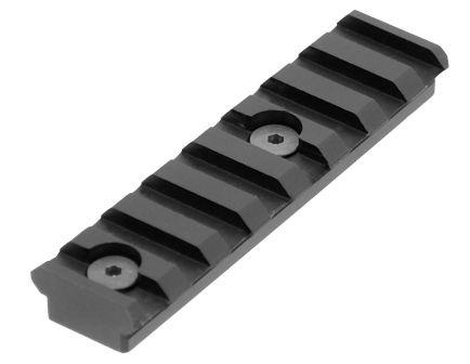"Leapers UTG KeyMod 3.14"" Aluminum Picatinny Rail, Hardcoat Anodized Black - MTURS04M"