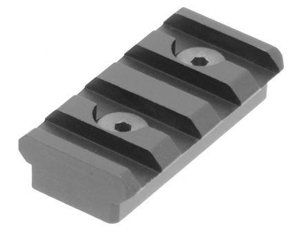 "Leapers UTG KeyMod 1.56"" Aluminum Picatinny Rail, Hardcoat Anodized Black - MTURS04S"
