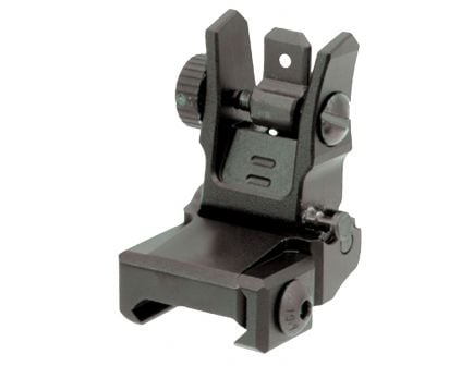 Leapers UTG Low-Profile Rear 1-Piece Flip-Up Sight w/ Dual Aiming Aperture for AR-15 Style Rifle - MNT-955