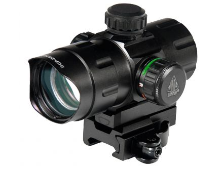 Leapers UTG 1x32mm Red/Green CQB Dot Sight w/ QD Mount - SCP-DS3840W
