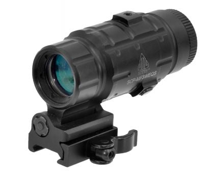 Leapers UTG 3x25mm Magnifier w/ Flip-to-Side QD Mount - SCP-MF3WEQS