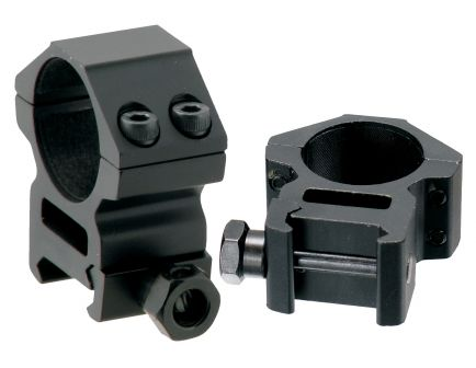 "Leapers UTG 1"" Medium Aluminum 2-Piece Medium-Profile Picatinny/Weaver Ring, Black - RGWM-25M4"