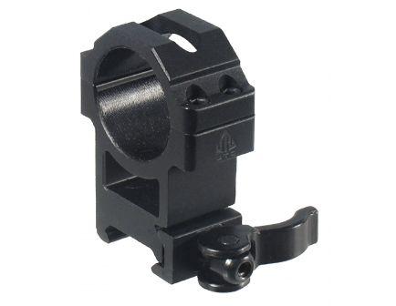 Leapers UTG 30mm High Steel/Aluminum 2-Piece Hi Pro LE Grade High-Profile Picatinny Ring, Black - RQ2W3224