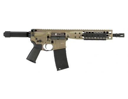 "LWRC International Individual Carbine DI 5.56 Semi-Automatic 10.5"" AR Pistol, FDE - ICDIP5CK10"