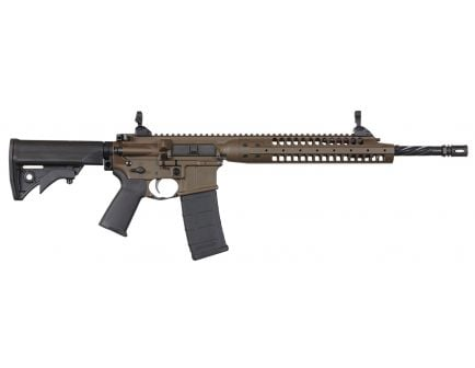 "LWRC IC-A5 16"" .223 Rem/5.56 Semi-Automatic AR-15 Rifle, Patriot Brown"