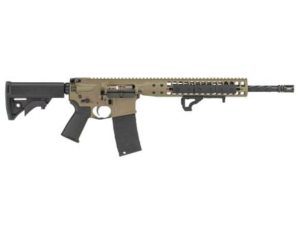 LWRC IC DI Standard 5.56 Semi-Auto AR-15 Rifle 6 Position Stock, FDE - ICDIRCK16