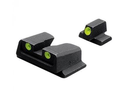 Meprolight Self Illuminated Fixed Front/Rear Night Sight Set for Smith & Wesson M&P 9/40 Full Size/Compact Pistols - ML11766