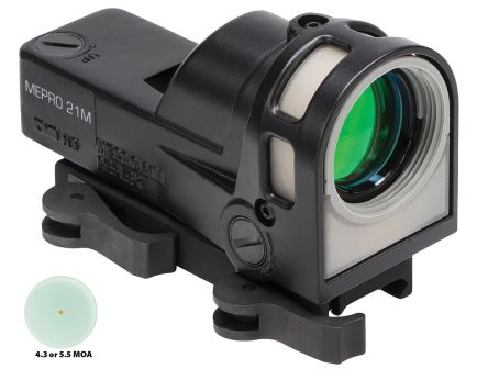 Meprolight MEPRO M21 1x30mm Day/Night Self Illuminated Reflex Sight, 5.5 MOA Dot - ML62631
