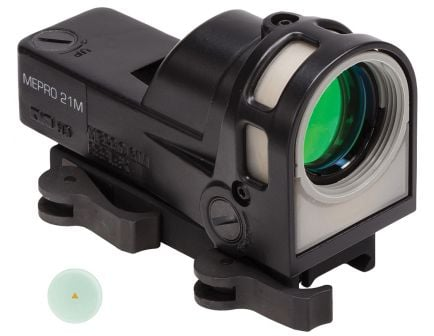 Meprolight MEPRO M21 1x30mm Day/Night Self Illuminated Reflex Sight, 12 MOA Red Triangle Post - ML62641