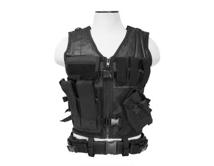 NcStar Tough PVC/Mesh Webbing 2X-Large+ Tactical Vest, Black - CTVL2916B