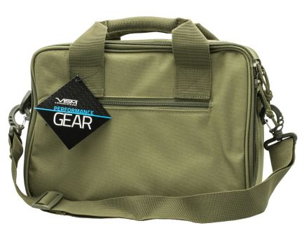 NcStar VISM Double Pistol Range Bag, Green - CPDX2971G