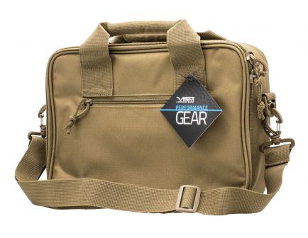 NcStar VISM Double Pistol Range Bag, Tan - CPDX2971T