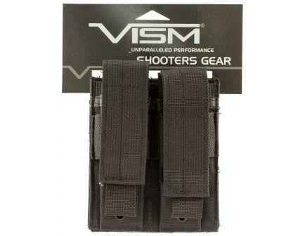 NcStar VISM Double Pistol Magazine Pouch, Black - CVP2P2931B