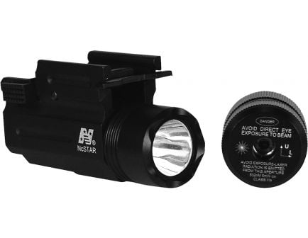 NcStar Universal Fit Flashlight and Green Laser Sight w/ Quick Release Weaver - AQPTFLG