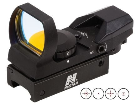 NcStar 1x24x34mm Reflex Sight, Illuminated 4 Pattern 3 MOA Red - D4B