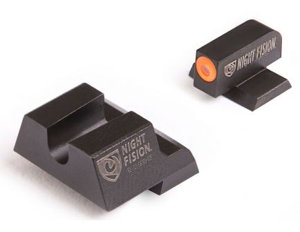 Night Fision Night Sight Set for Canik TP9SF ELITE Handguns, Green with Orange Square Front - CNK-027-014-OGZX