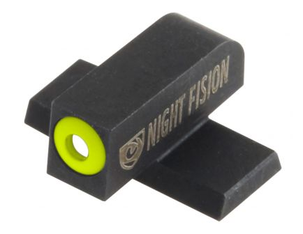 Night Fision Perfect Dot #8 Front Night Sight for Sig Sauer 9mm and 357 P-Series Pistols, Green with Yellow Outline - SIG-178-001-YGXX