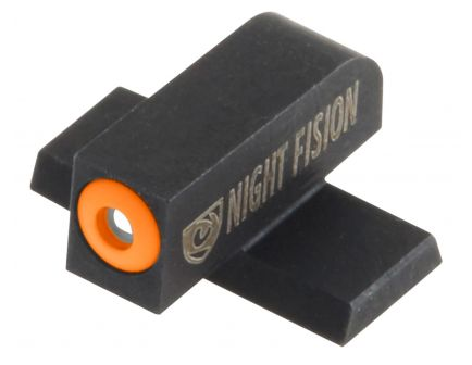 Night Fision Night Sight Set for SIG Sauer 9mm, 357 P-Series Pistols, Green with Orange Square Front, Green with Black U-Notch Rear - SIG-177-007-OGZG