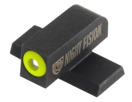 Night Fision Night Sight Set for SIG Sauer 9mm, 357 P-Series Pistols, Green with Yellow Square Front, Green with Black U-Notch Rear - SIG-177-007-YGZG