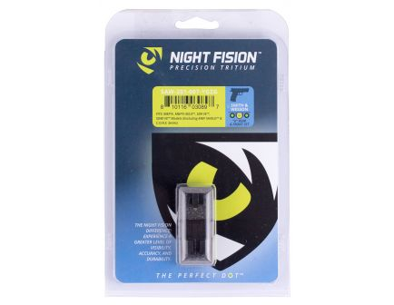 Night Fision Night Sight Set for Smith & Wesson M&P M2.0, SD9 VE Pistols, Green with Yellow Square Front, Green with Black U-Notch Rear - SAW-201-007-YGZG
