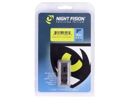 Night Fision Night Sight Set for Smith & Wesson M&P Shield 40, 45, 9mm Pistols, Green with White Square Front/Rear - SAW-202-003-WGWG
