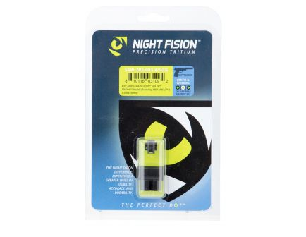 Night Fision Night Sight Set for Suppressor Height S&W M&P, SD9 VE, SD40 VE Handguns, Green Tritium w/ White Outline Black