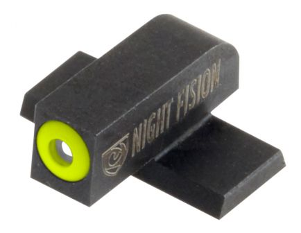Night Fision Night Sight Set for Springfield XD, XD(M), XD Mod 2 Pistols, Green with Yellow Square Front, Green with Black Square Rear - SPR-226-003-YGZG