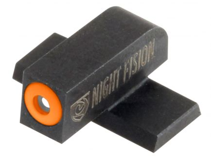 Night Fision Night Sight Set for Springfield XD, XD(M), XD Mod 2 Pistols, Green with Orange Square Front, Green with White U-Notch Rear - SPR-226-007-OGWG