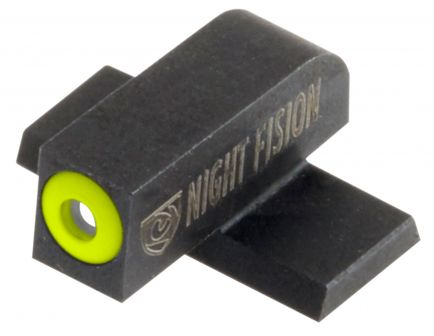 Night Fision Night Sight Set for Springfield XD, XD(M), XD Mod 2 Pistols, Green with Yellow Square Front, Green with White U-Notch Rear - SPR-226-007-YGWG