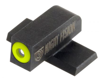 Night Fision Night Sight Set for Springfield XD, XD(M), XD Mod 2 Pistols, Green with Yellow Square Front, Green with Black U-Notch Rear - SPR-226-007-YGZG