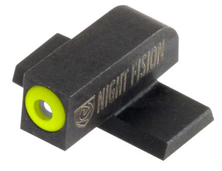 Night Fision Night Sight Set for Springfield XDS, XDE Pistols, Green with Yellow Square Front, Green with White Square Rear - SPR-228-003-YGWG