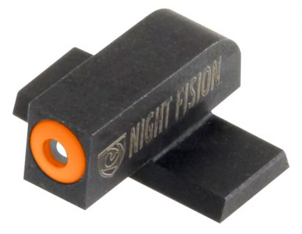Night Fision Night Sight Set for Springfield XDS, XDE Pistols, Green with Orange Square Front, Green with Black Square Rear - SPR-228-003-OGZG