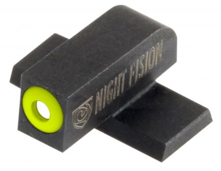 Night Fision Night Sight Set for Springfield XDS, XDE Pistols, Green with Yellow Square Front, Green with Black U-Notch Rear - SPR-228-007-YGZG