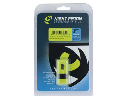 Night Fision Night Sight Set for Glock 17/17L/19/22-28/31-35/37-39 Pistols, Green with White Square Front - GLK-001-014-WGZX
