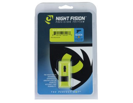 Night Fision Night Sight Set for Glock 42, 43 Pistols, Green with Orange Square Front - GLK-003-014-OGZX