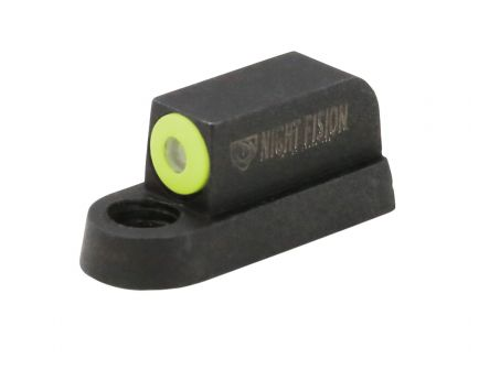 Night Fision Perfect Dot Front Night Sight for CZ-USA P-07 and P-09 Handguns, Green with Yellow Outline - CZU-075-001-YGXX