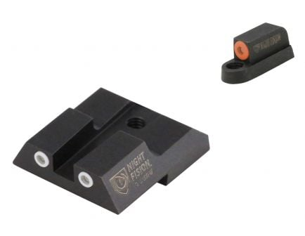 Night Fision Night Sight Set for CZ-USA P-07, P-09 Handguns, Green with Orange Square Front, Green with White Square Rear - CZU-076-003-OGWG