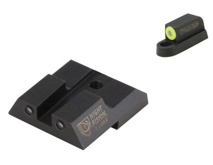 Night Fision Night Sight Set for CZ-USA P-07, P-09 Handguns, Green with Yellow Square Front, Green with Black Square Rear - CZU-076-003-YGZG
