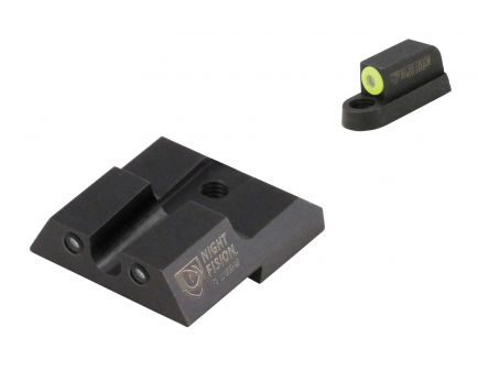 Night Fision Night Sight Set for CZ-USA P-07, P-09 Handguns, Green with Yellow Square Front, Green with Black U-Notch Rear - CZU-076-007-YGZG