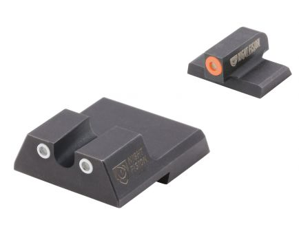 Night Fision Night Sight Set for HK VP9/VP40/P30/P30SK/P30L/45/45 Tactical Handguns, Green with Orange Square Front, Green with White U-Notch Rear - HAK-126-007-OGWG