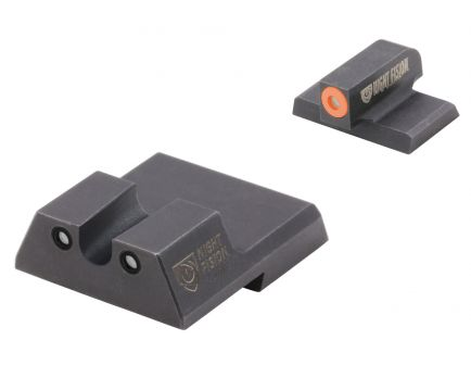 Night Fision Night Sight Set for HK VP9/VP40/P30/P30SK/P30L/45/45 Tactical Handguns, Green with Orange Square Front, Green with Black U-Notch Rear - HAK-126-007-OGZG